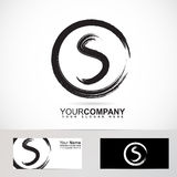 Grunge letter S circle logo Royalty Free Stock Photography