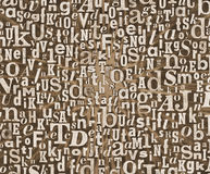Grunge letter texture Stock Images
