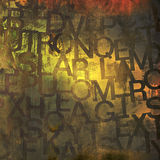 Grunge letters Stock Photography