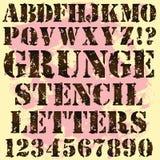 grunge letters stencilen Royaltyfri Bild