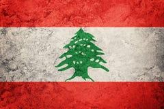 Grunge Liban flaga Liban flaga z grunge teksturą Zdjęcia Royalty Free
