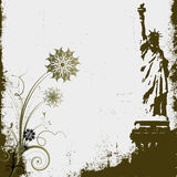 Grunge Liberty Background Stock Photography