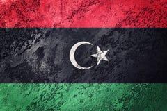 Grunge Libia flaga Libijczyk flaga z grunge teksturą Fotografia Royalty Free
