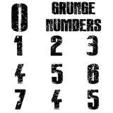Grunge liczby ilustracji