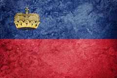 Grunge Liechtenstein flag. Liechtenstein flag with grunge textur Stock Photography