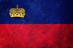 Grunge Liechtenstein flaga Liechtenstein flaga z grunge textur Zdjęcia Royalty Free