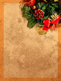 Grunge light brown christmas paper Royalty Free Stock Images