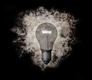 Grunge lightbulb royalty free illustration