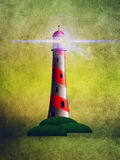 Grunge lighthouse Stock Image