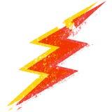 Grunge lightning bolt
