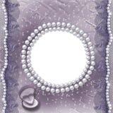 Grunge lila Karte für Einladung oder Glückwunsch Lizenzfreie Stockbilder