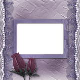 Grunge lilac card for invitation Royalty Free Stock Photo
