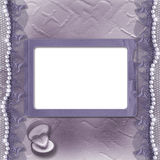 Grunge lilac card for invitation or congratulation Stock Photo