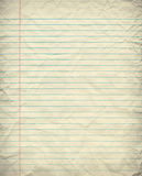 Grunge Lined Paper. A sheet of grungy and wrinkled blue lined paper Royalty Free Stock Image
