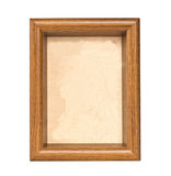 Grunge linen in wooden frame Royalty Free Stock Photo