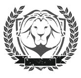 Grunge lion head emblem Royalty Free Stock Image