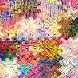 Grunge listrado, manchado, ondulado, fundo do arco-íris do ziguezague Fotografia de Stock