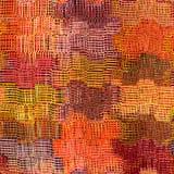 Grunge listrado, pano colorido do weave quadriculado, ondulado Fotos de Stock