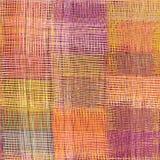 Grunge listrado, quadriculado, teste padrão sem emenda de pano do weave da edredão Foto de Stock