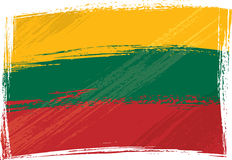 Grunge Lithuania flag. Lithuania national flag created in grunge style Royalty Free Stock Photo