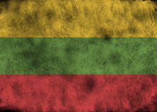 Grunge Lithuania flag. Royalty Free Stock Photo