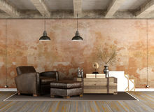 Grunge Living room Stock Photos