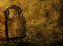 Grunge Lock Royalty Free Stock Photo