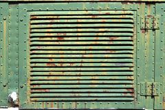 Grunge locomotive air exit grill Royalty Free Stock Photos