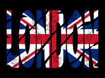 Grunge London text with flag Stock Photo