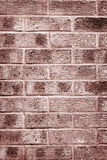 Grunge look clay brick wall brown texture and background vertical Royalty Free Stock Photography
