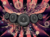 Grunge Loud Speaker Royalty Free Stock Photography