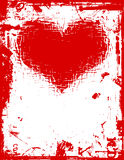 Grunge love. Grunge style valentines border - lots of detail Royalty Free Stock Images