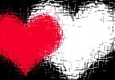 Grunge love. Grungey valentines background - lots of detail Stock Photo