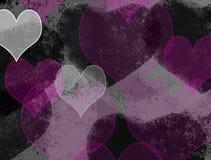 Grunge love background. Illustration of grunge hearted dark background Stock Photo