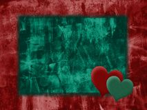 Grunge love background. Two hearts: grunge love background stock illustration