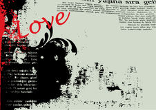 Grunge love background vector Stock Images