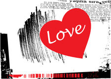 Grunge love background vector Royalty Free Stock Photos