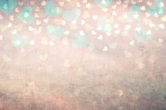 Grunge love heart bokeh background Stock Photography