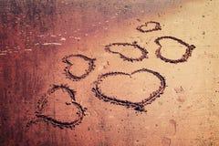 Grunge love hearts Stock Image