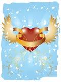Grunge Love Pattern vector illustration