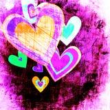 Grunge love pattern background Stock Image