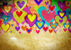 Grunge love pattern background Stock Photos