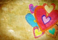 Grunge love pattern background Stock Photography