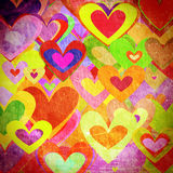 Grunge love pattern background Royalty Free Stock Images