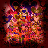 Grunge love pattern background Royalty Free Stock Photo