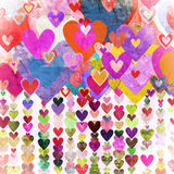 Grunge love pattern background Stock Photography