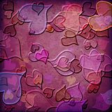 Grunge love pattern background Royalty Free Stock Photography