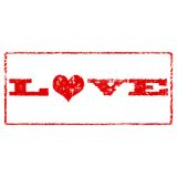 Grunge Love Rubber Stamp Royalty Free Stock Image