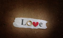 Grunge love Stock Photo