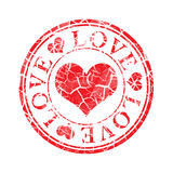 Grunge Love Stamp Royalty Free Stock Photography